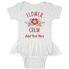 Custom Baby Flower Crew