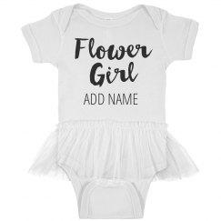 Custom Baby Flower Girl Script