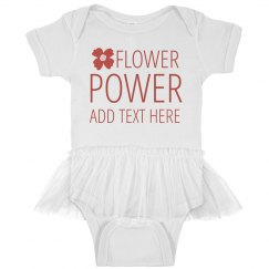 Custom Flower Power Baby