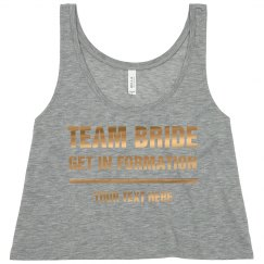 Gold Team Bride Custom Formation