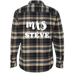 Just Married Flannel Shirt