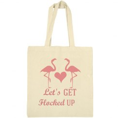 Lets Get Flocked Up Flamingo Bachelorette Tote