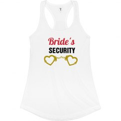 Bride's Security Tank Top