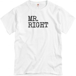 Mr. & Mrs. Right Tees
