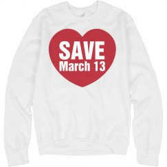 Save The Date Fleece Girl