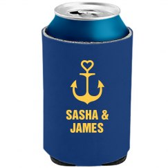 Nautical Wedding Can Cooler