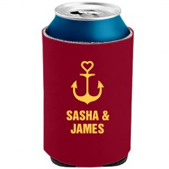Nautical Wedding Can Cooler