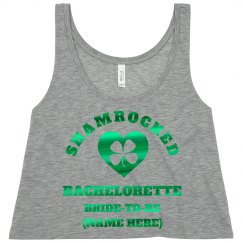 Green Metallic Shamrocked Bachelorette