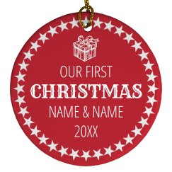 Our First Christmas Custom Names