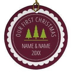 Custom Name/Date Christmas Couple