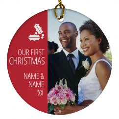 Custom Photo First Married Xmas