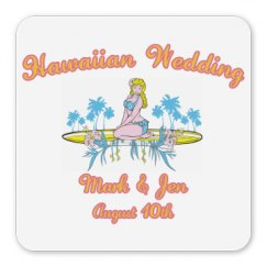 Hawaiian Wedding Magnet