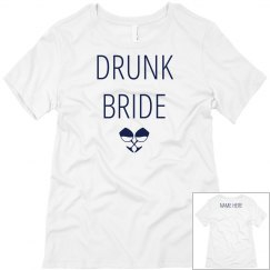 Custom Name Drunk Bride Wine