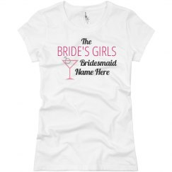 Gold Personalised T-Shirt Any Name Wife Bride Last Valentine/'s Day as Miss