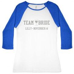 Team Bride Wine Tee