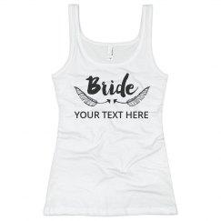 Trendy Bride Feather Script