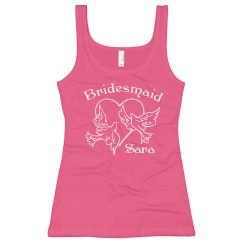 Bridesmaid With Dove