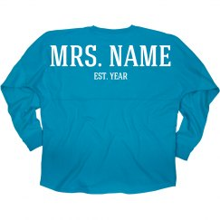 Custom Mrs Wedding Date