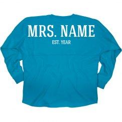 Custom Mrs Wedding Date
