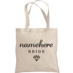 Cute Bride Namehere Tote Bag