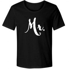 Mr. Newlywed Hubby Married & Matching Tee