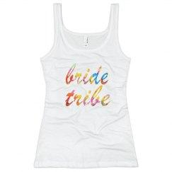 Floral Bride Tribe Tank Top