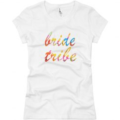 Floral Bride Tribe Tshirt