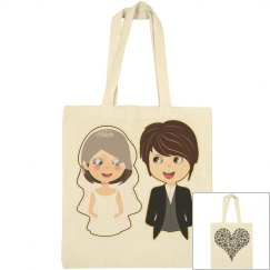 Bride and Groom Love Canvas Bag