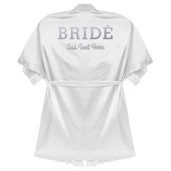 Custom Bride Silver Metallic Robe