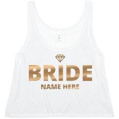Gold Diamond Bride Custom Name
