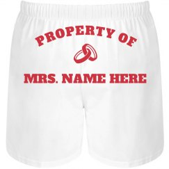 Property Of Mrs. Custom Name