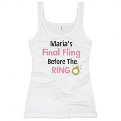 Final Fling Before Ring Tank Top