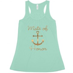 Nautical Anchor, Mate of Honor Bachelorette Tank top