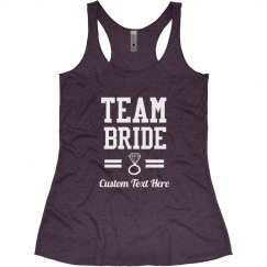Custom Diamond Team Bride Bachelorette Party