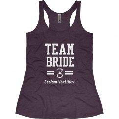 Custom Diamond Team Bride Bachelorette Party
