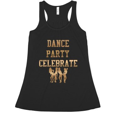 Dance Party Celebrate Gold