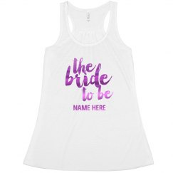 Fuschia Metallic Bride To Be