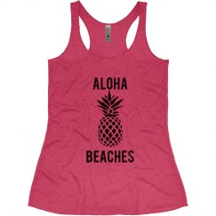 Aloha Beaches Beach Bachelorette Tank Tops
