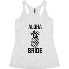 Aloha Bride Tank Tops for Bachelorette Parties