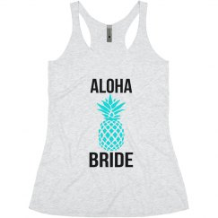 Aloha Bride Pineapple Tank Top for Bachelorette hawaii