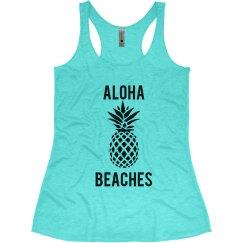Aloha Beaches Beach Bachelorette Tank Tops Hawaii