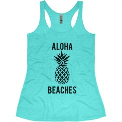 Aloha Beaches Beach Bachelorette Tank Tops Hawaii