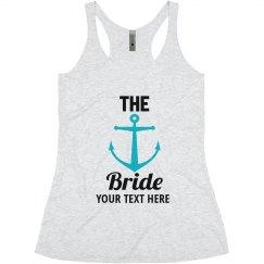 The Bride Anchor Nautical bachelorette tank tops