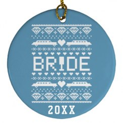 Bride Gift Tag Ornament