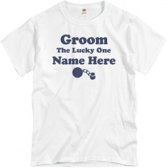 The Lucky Groom Custom Nickname Tee