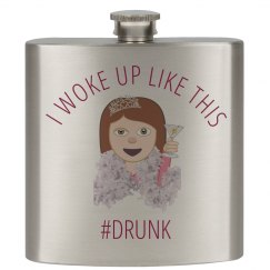 Drunk Bride Emoji Flask