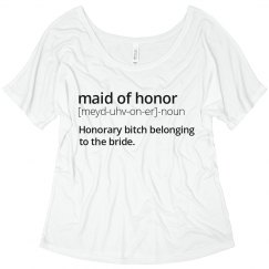 Maid of Honor Definition