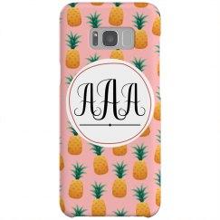 Custom Initials Pineapple Case