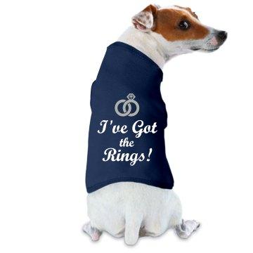 Dog has the rings tee