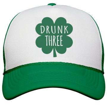 Drunk Three Bachelorette Cap